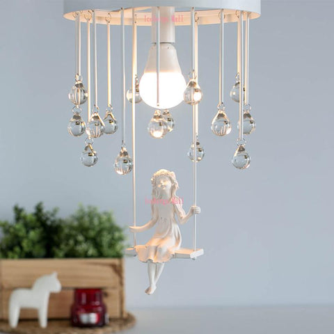 $234.60- Nordic Modern Aisle Crystal Ceiling Chandelier Light Sweet Little Girl Chandeliers Lamp Lighting For Living Rooms Kids Room