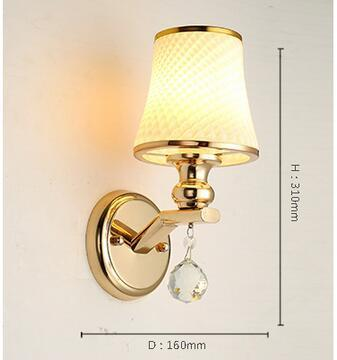 $137.70- A1 Wall Lamp Bedside Lamp Wall Lamp European Style Modern Simple Double Bedroom Living Room Warm Aisle Hotel Glass Lamp