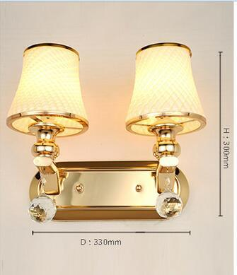 $222.70- A1 Wall Lamp Bedside Lamp Wall Lamp European Style Modern Simple Double Bedroom Living Room Warm Aisle Hotel Glass Lamp
