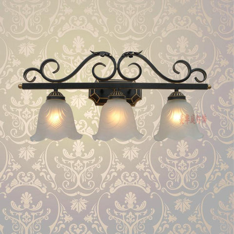 a1 european style wall lamp black iron lamp special offer bedroom bedside lamps lighting mirror lamp b32 creative pastoral