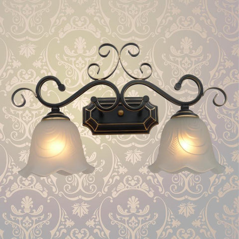 Retro Waterpipe Wall Lamp Iron Plated Lampshade +2Pcs Pressure Gauge Home Indoor Kitchen Aisle Wall Light Sconces E26/E27