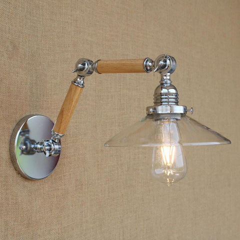 $110.33- Retro Loft Wooden Art Wall Lamp Bedside Light Sconce Fixture For Indoor Bedroom Porch Hallway Corridor Cafe Hotel Decor Lighting