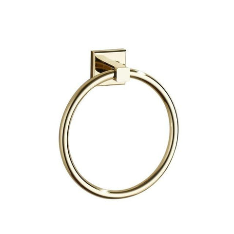 $37.49- European Zirconium Gold Brass Towel Ring Towel Bar Vintage Polished Copper Towel Rack Mounting Bathroom Accessories B70