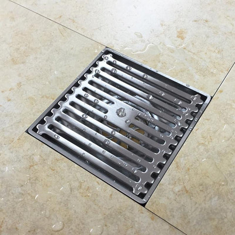 $45.12- 304 Stainless Steel Wire Drawing Floor Drain 4 Inch Size Water Displacement Hotel House Shower Room Drains