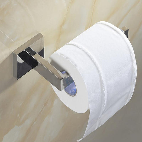 $28.37- Contemporary Sus 304 Stainless Steel W/out Cover Polish Surface Bathroom Hardware Set Toilet Paper Holder