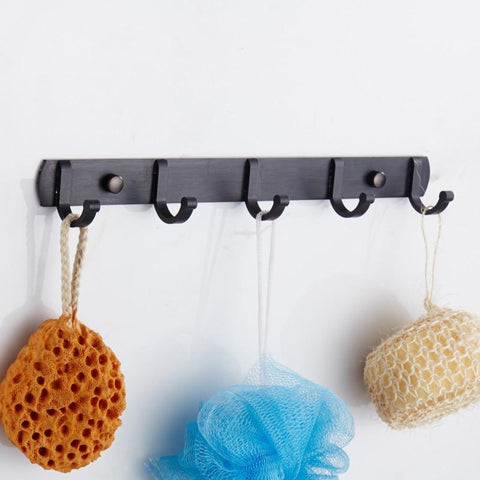 Bathroom Accessories Flower Carved Bathroom Hooks Hangers Clothes Coat Hat Pegs Brass