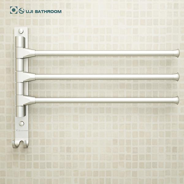 $39.31- European Space Aluminium Towel Rack Toilet Towel Hanging W/ Hooks Bathroom Towel Rack Movable Towel Bars 4/3/2 Arms