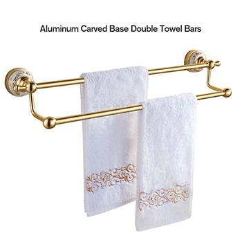 $37.78- Fitintoeveryway High Quality Single/Double Towel Bar Towel Holder Towel Rack Bathroom Accessories