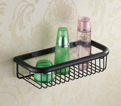 $102.00- Luxury European Style Antique Wall Mounted Black Brass Bathroom Wall Stand Towel Rack ShelfStorageToilet Brush For Home