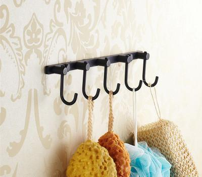 $90.00- Luxury European Style Antique Wall Mounted Black Brass Bathroom Wall Stand Towel Rack ShelfStorageToilet Brush For Home