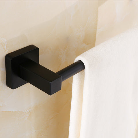 $45.76- European Custom Dark Bronze Antique Bathroom Towel Rack Single Bar Rack Stainless Steel Bathroom Towel Rack 60Cm