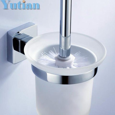 $41.38- Toilet Brush HolderStainless Steel Construction Base Bathroom Accessories Yt10712
