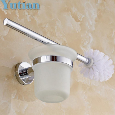 $34.00- Toilet Brush HolderStainless Steel Construction Base Bathroom Accessories Yt10912
