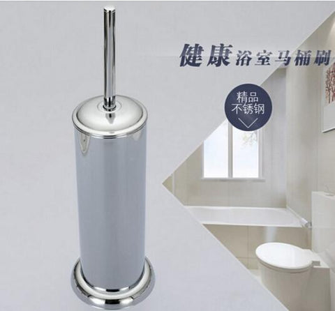 Abs Toilet Brush HolderStainless Steel Toilet Cleaning BrushBathroom FloorStanding Toilet Brush W/ Bottom BaseJ16198