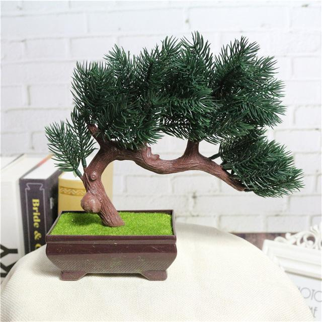 Buy Artificial Flower Plant Potted Bonsai Fake Decorative