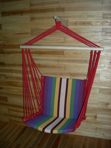 High Quality Canvas Patio Swings Chromatic Stripe Hanging Chair