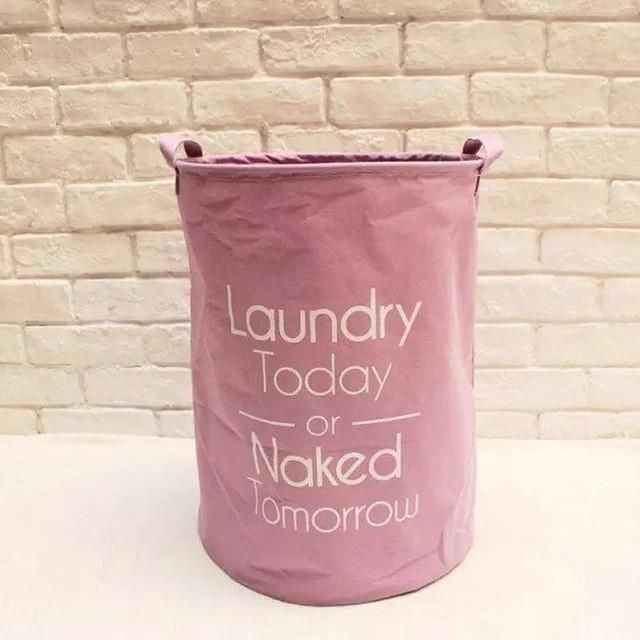 $26.30- 2016 New Natural Cotton Linen Fabric Laundry Basket 4 Colors Sundries Storage Basket Dirty Clothes Baskets
