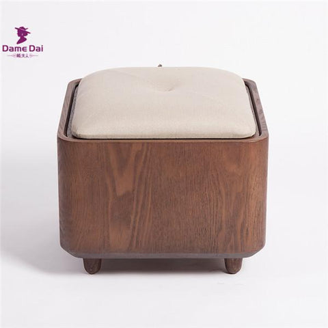 $273.90- Wooden Organizer Storage Stool Ottoman Bench Footrest Box Coffee Table Cube Ottoman Furniture Fabric Cushion Top Ottoman Seat