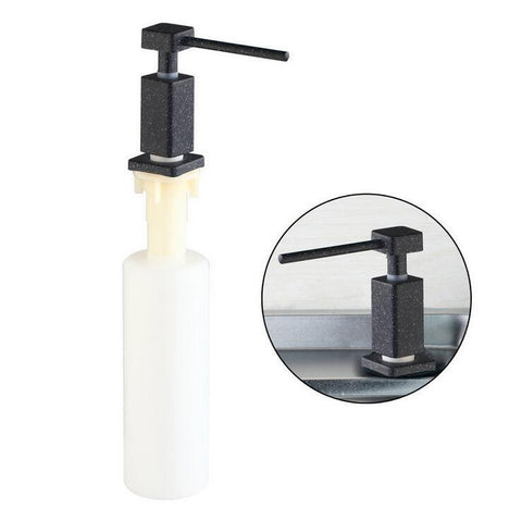 $24.10- Stainless Steel Head Liquid Soap Dispenser Kitchen Sink Liquid Soap Dispenser Black Bathroom Hand Wash Liquid Plastic Bottle