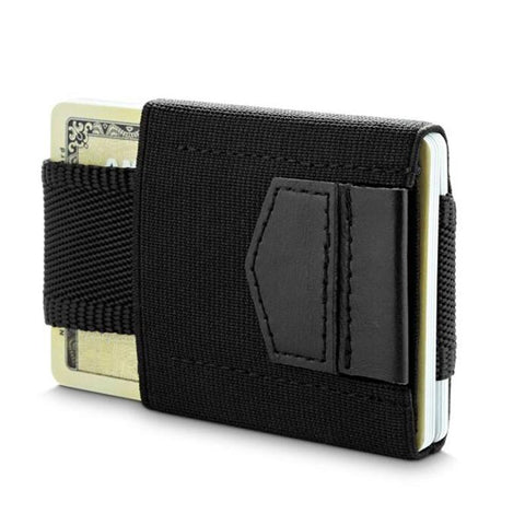 $13.86- Minimalist Slim Wallet Men Women Mini Wallets Small Business Drivers License Id Organizer Badge Porte Carte Credit Card Holder