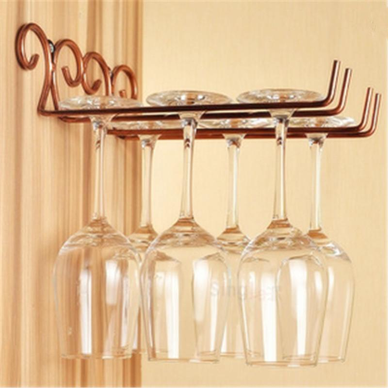 $16.91- Classical Useful Fashion Bar Red Wine Goblet Glass Hanger Holder Hanging Rack Shelf Hold Up To 6 Wine Glasses Hc11