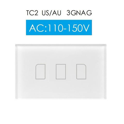 2017 New Broadlink Tc2 Us 3Gang Switchsmart Home Automationphone Remote Wireless Wall Light Touch Switchcrystal Glass Panel