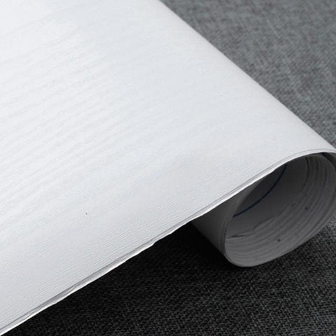 $29.61- Thick White 5Meter Decorative Film Modern Design Papel Mural Pvc Wood Wallpaper For Bedroom Furniture Desktop Waterproof Sticker