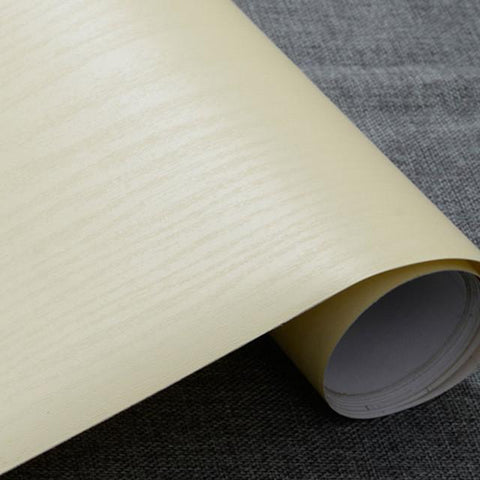 $30.93- Thick White 5Meter Decorative Film Modern Design Papel Mural Pvc Wood Wallpaper For Bedroom Furniture Desktop Waterproof Sticker