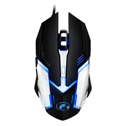 $13.24- Wired Gaming Mouse 4800Dpi Mice 6 Buttons Mouse Gamer Usb Optical Mice Computer Mouse Cable Peripherals V6 For Laptop Desktop