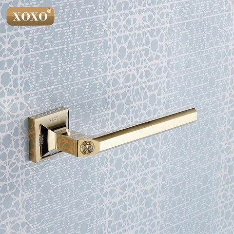 Promotion New Golden Brass Bathroom Wall Mounted Toilet Paper Holder Roll Tissue Holder/Towel Ring17086G