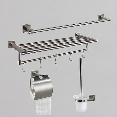 Fei Lan Yu Stainless Steel Towel Box Bathroom Sanitary Ware Hardware Hanging Paper Towel Rack Tissue Box Toilet Set