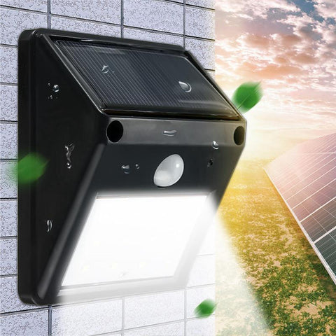 Waterproof 12 Led Solar Light Solar Power Pir Motion Sensor Led Garden Light Outdoor Pathway Sense Solar Lamp Wall Light