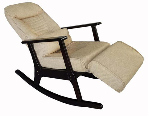 Rocking Recliner Chaise For Elderly People Japanese Style Recliner Chair W/ Foot Stool Armrest Modern Large Recliner Lounge
