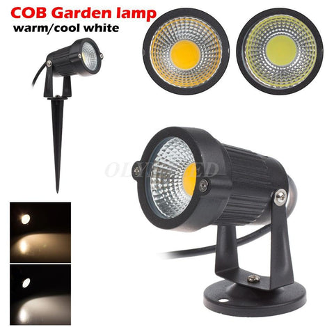 $9.44- New Style Cob Lawn Lamp Light 220V 110V Outdoor Led Spike Garden Light 3W 5W 7W 9W Path Landscape Spot Light Waterproof Bulb