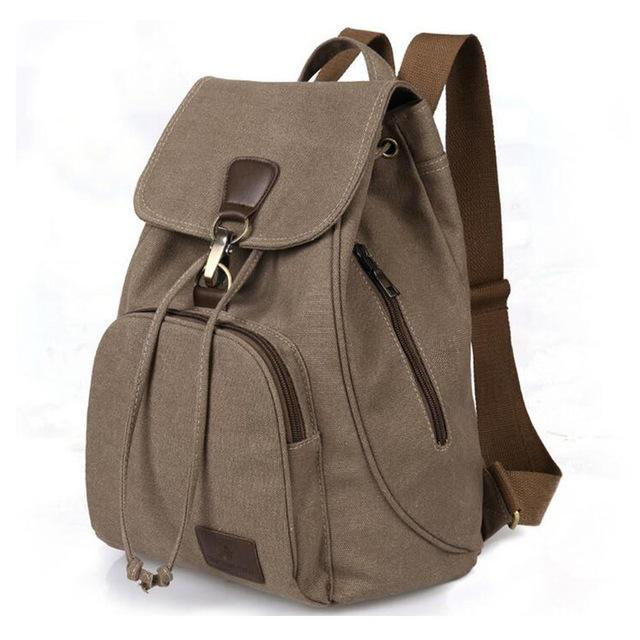 $28.78- Brand Hot Vintage Casual Women Canvas Backpack Drawstring Bag Schoolbag For Teenagers Girls Bagpack Knapsack Zz291
