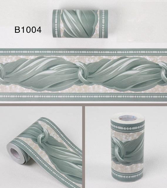 10Meters Self Adhsive Pvc Wallpaper Border Home Decor Waterproof Kitchen Wall Skirting Bathroom Wall Waistline Wall Paper Border