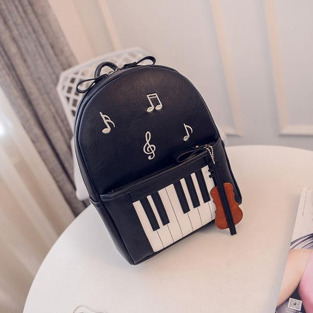 $41.22- New Fashion Piano Musical Printing Backpack Casual Backpacks For Teenage Girls Travel Students School Rucksack Mochilas