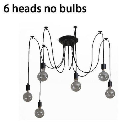 $51.82- Vintage Nordic Spider Pendant Lamp Multiple Adjustable Retro Pendant Lights Loft Classic Decorative Fixture Lighting Led Home