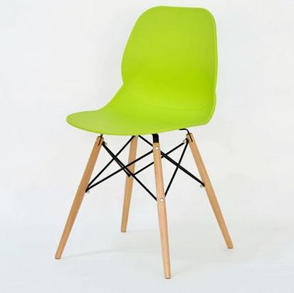 Fashion 100% Wooden & Plastic ChairWhiteRed BlueDining ChairLiving Room Furniture New Leisure Bar ChairWooden Furniture