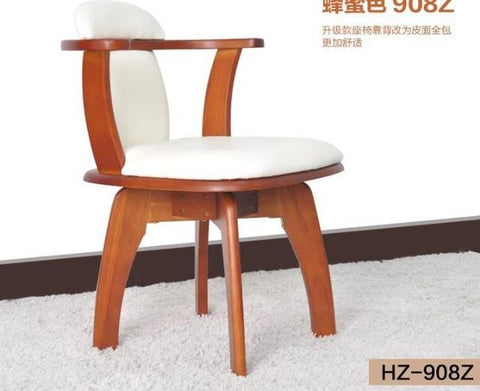 New 100% Oak Pu Dining Chair Wooden Dining Chair 360 Rotated W/ Handrails2 Style Dining Room FurnitureWood Furniture