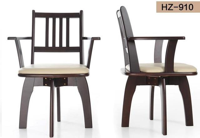$488.72- New 100% Oak Pu Dining Chair Wooden Dining Chair 360 Rotated W/ Handrails2 Style Dining Room FurnitureWood Furniture