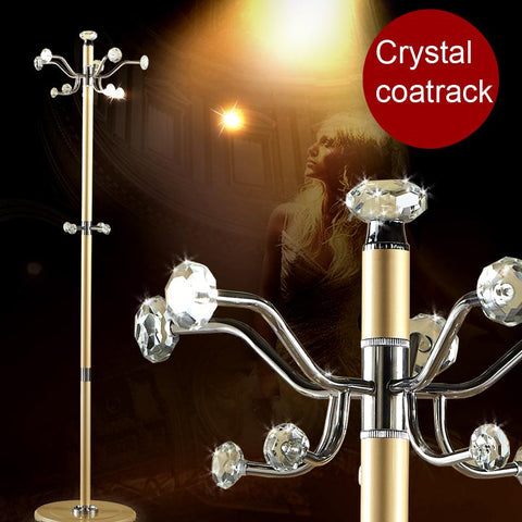 100% crystal coat racks shining crystal hanger Multi hookshook rotation clothes rack living room furniture armario ropero