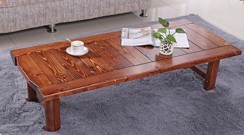 $236.30- Japanese Antique Low Table Rectangle 90*48Cm Folding Legs Asian Furniture Traditional Living Room Solid Wood Table For Dinning