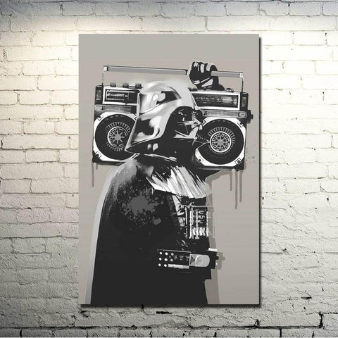 $8.76- Banksy Graffiti Street Art Silk Fabric Poster 13X20 24X36 Inches Artwork Print Pictures For Room Wall Decor 010