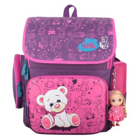 $55.55- Cartoon Bear Butterfly Printing Kids Satchel Children School Bags Orthopedic Backpacks Durable School Backpacks Mochila Escolar