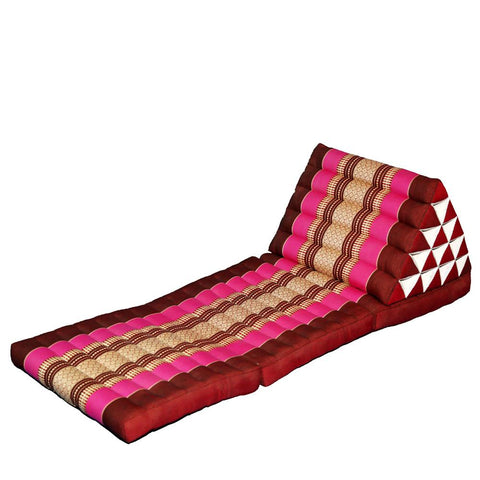 $278.85- Foldout Triangle Thai Cushion 100% Kapok Filling 180X60X45Cm Floor Folding Chaise Lounger Daybed Sleeper For Living Room/Outdoor