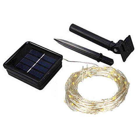 Solar Sun Led String Light 10M 15M Copper Wire String Outdoor Garland Fairy Patio String Light For Garden Wedding Christmas Balcony