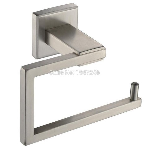 $33.80- Sus 304 Stainless Steel Wall Mount Toilet Paper Holder Tissue Roll Holder Brushed Nickel