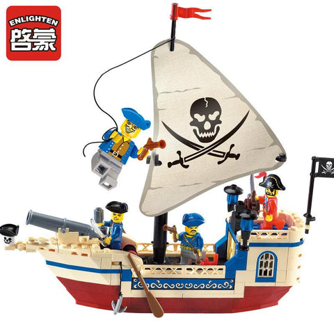 $21.34- Enlighten 304 Pirates Of The Caribbean Brick Bounty Pirate Ship Building Blocks Christmas Gifts For Kids