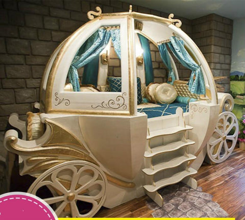 $10143.00- Happy Baby Custom Solid Wood Boys Girls Bed Theme Hotel Features American Carriage Bed Children'S Furniture
